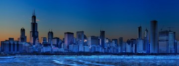 Blue Chicago Facebook Wall Image