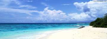 Blue Sky and Sandy Beach Fb Cover