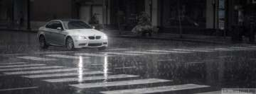 Bmw in Rain Facebook Banner