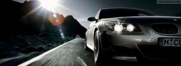 BMW M5 in Mountain Area Facebook Cover Photo