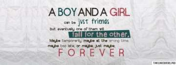 Boy Girl Fall for Other Facebook cover photo