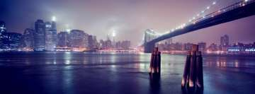 Bridge to The City at Night Facebook cover photo