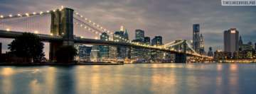 Brooklyn Bridge in New York Facebook cover photo