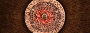 Brown Mandala Facebook Cover