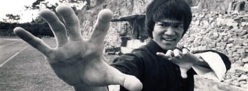 Bruce Lee Fighting Facebook Wall Image