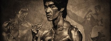 Bruce Lee Karate Fighter Facebook Cover