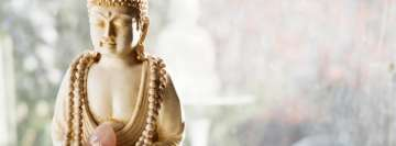 Buddhist Figurine Holding a Mineral Facebook cover photo