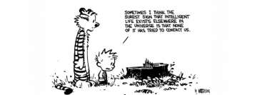 Calvin and Hobbes Intelligent Life Facebook Cover