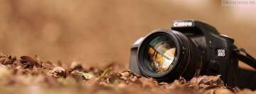 Canon Camera in Autumn Facebook Cover-ups