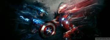 Captain America Civil War Fight Facebook Background TimeLine Cover