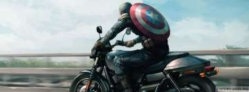 Captain America Riding a Bike Facebook Background TimeLine Cover