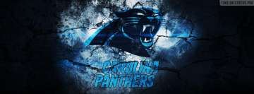 Carolina Panthers Grunged Logo Facebook Cover Photo