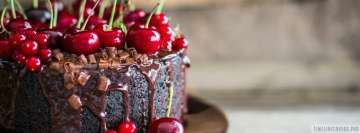 Cherry Chocolate Cake Facebook Cover