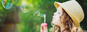 Child Blows Soap Bubbles Facebook Cover-ups