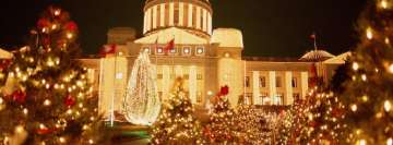 Christmas at Arkansas State Capitol Building Facebook Background TimeLine Cover