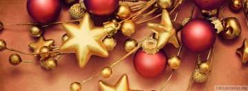 Christmas Balls and Stars Facebook Background TimeLine Cover