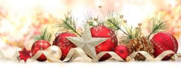 Christmas Decoration with Ribbon Fb Cover