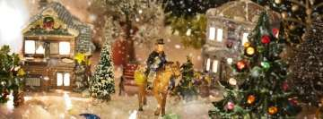 Christmas Village Horseman Facebook Cover Photo