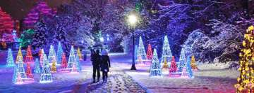 Christmas Winter Festival of Lights Facebook Background
