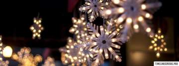 Christmas Snowflake Lights Facebook Banner