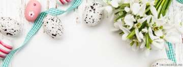Clean and Decorated Easter Table Facebook Wall Image