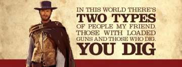 Clint Eastwood Two Types of People Facebook Background TimeLine Cover