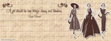 Coco Chanel Fabulous Girly Quote Facebook Cover-ups