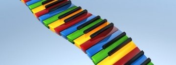 Colored Piano Facebook Cover