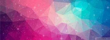 Colorful Abstract Triangles Facebook Wall Image