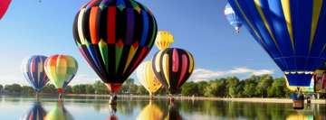 Colorful Balloons Facebook Background TimeLine Cover
