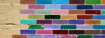 Colorful Brick Wall Facebook Background TimeLine Cover