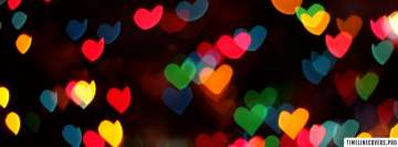 Colorful Heart Lights Facebook Banner