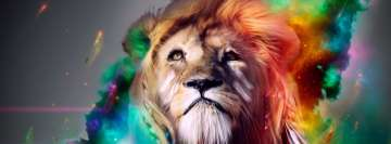 Colorful Lion Art Facebook Cover Photo
