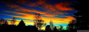 Colorful Scenic Sky Facebook cover photo