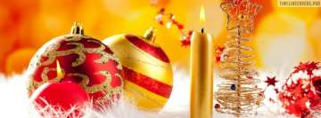 Colorful Christmas Decorations Facebook Wall Image