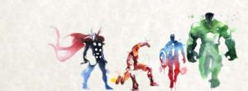 Comics Avengers Painting Facebook Cover Photo