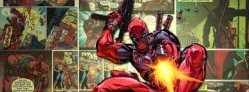 Comics Deadpool Jumps on Your Profile Facebook Cover