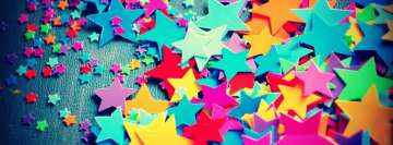 Cool Colorful Stars Facebook Banner