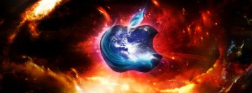 Cool Apple Logo Facebook Wall Image