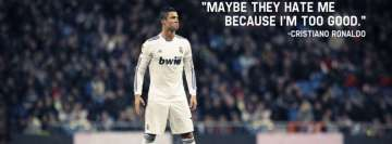 Cristiano Ronaldo Sport Quote Facebook Cover