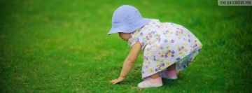 Cute Child on Lawn Facebook cover photo