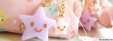 Cute Happy Stars Girly Facebook cover photo