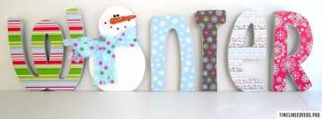 Cute Winter Letters Facebook cover photo