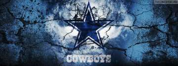 Dallas Cowboys Grunged Logo Facebook Banner
