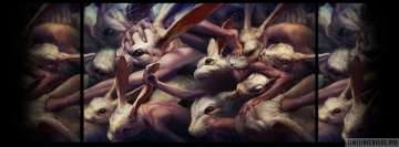 Dark Creepy Man Rabbit Society Facebook Cover