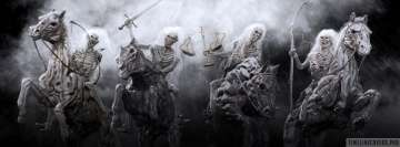 Dark Occult The Four Horsemen of The Apocalypse Facebook Cover Photo