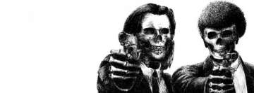 Dark Pulp Fiction Skulls Facebook Cover Photo