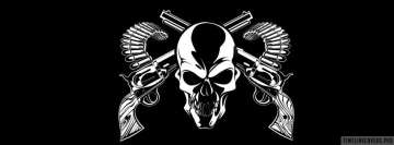 Dark Skull and Guns Facebook Cover