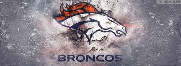 Denver Broncos Grunged Logo Facebook Background TimeLine Cover
