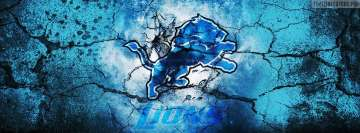 Detroit Lions Grunged Logo Facebook Wall Image